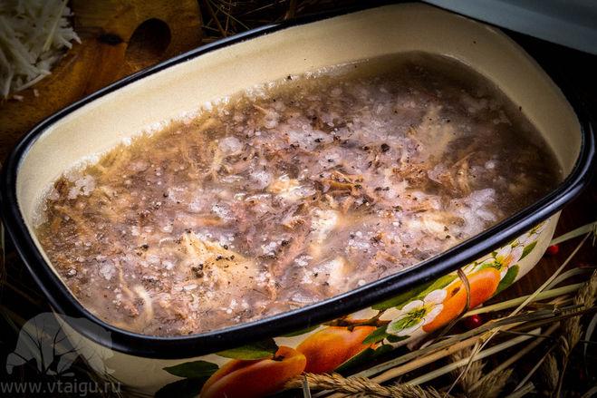 Рецепт студня, как его готовили в 19 веке